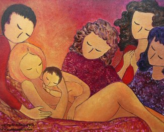 A-birthing-family-birth-art-motherhood-Gioia-Albano-art-painting-300-dpi